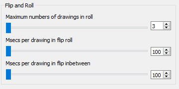 Pencil2D flip-and-roll default settings